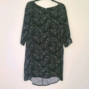 HALOGEN black and white long sleeves dress